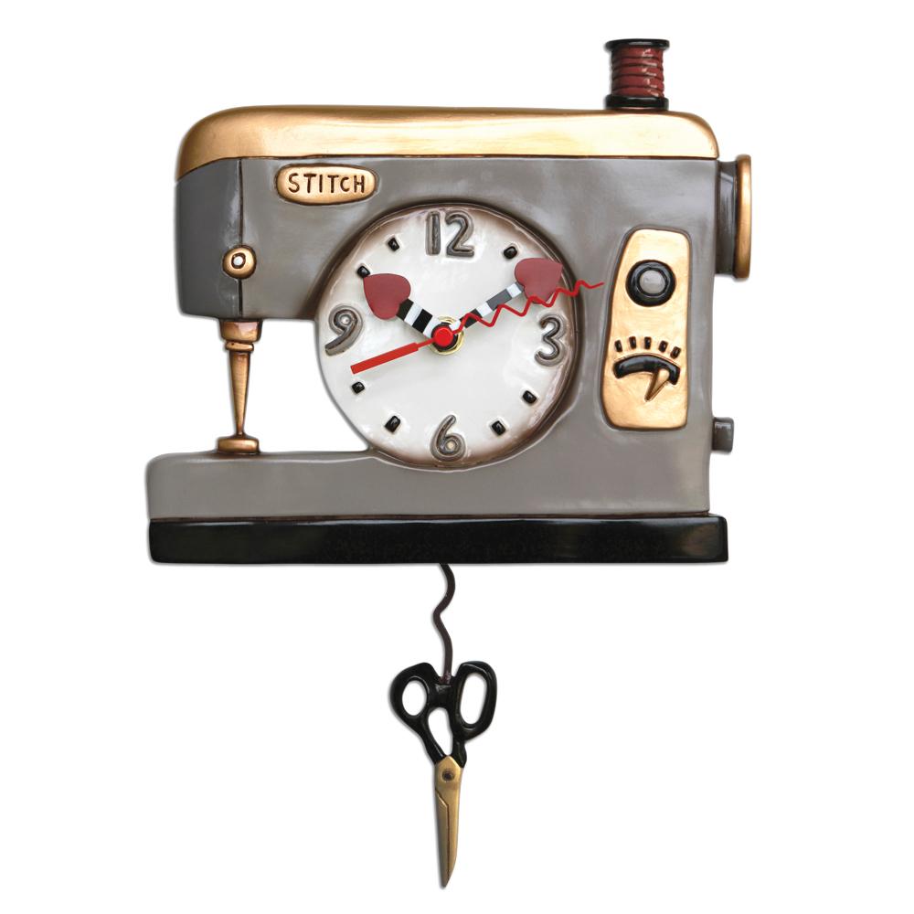 Back Stitch Sewing Pendulum Wall Clock By Allen Designs