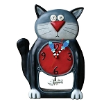 Black Kitty Pendulum Mantle/Wall Clock by Allen Designs