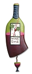WIne Time Pendulum Wall Clock by Allen Designs