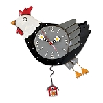 Flew the Coop Pendulum Wall Clock by Allen Designs