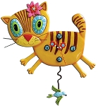 Kimi Kitty Pendulum Wall Clock by Allen Designs