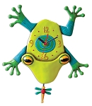 Big Croak Frog Pendulum Wall Clock by Allen Designs