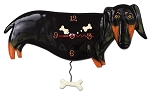 Otis Dog Pendulum Wall Clock by Allen Designs