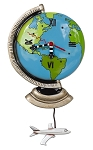 Globe Pendulum Wall Clock by Allen Designs