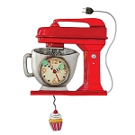 Red Vintage Mixer Pendulum Wall Clock by Allen Designs