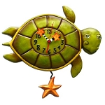 Shelldon Turtle Pendulum Wall Clock by Allen Designs