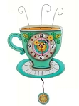 Sunny Cup Pendulum Wall Clock by Allen Designs