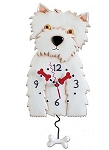 Westin Dog Pendulum Wall Clock by Allen Designs