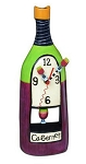 Wine Cabernet Pendulum Wall/Mantle Clock by Allen Designs