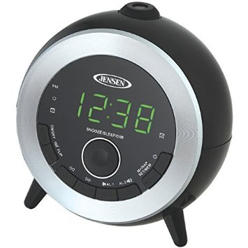 audio am fm radio alarm clock with projection by jensen. Black Bedroom Furniture Sets. Home Design Ideas