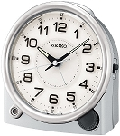 Ultimate Bedside Silver Alarm Clock by Seiko