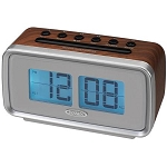 Retro AM/FM Dual Alarm Clock with Electric Flip Display by Jensen