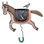 Woah Horsey Pendulum Wall Clock by Allen Designs