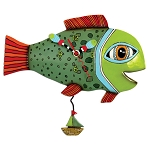 High Tide Trout Fish Pendulum Wall Clock by Allen Designs