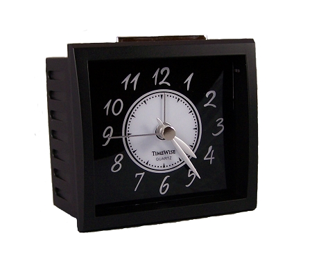 Oxford Analog Battery Alarm Clock By Timewise