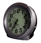 Bell Ringer Analog Alarm Clock Silver by TimeWise