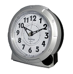 Yale Analog Alarm Clock Silver by TimeWise
