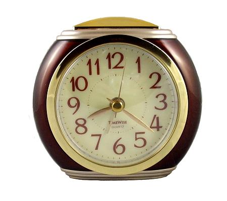 Analog Alarm Clock No Ticking Clock Battery Alarm