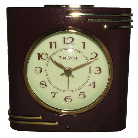 Crestone Alarm Clock Brown And Gold By Timewise