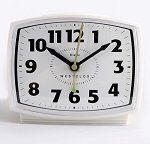 White Analog Electric Alarm Clock by Westclox