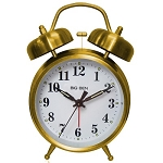 Big Ben Gold Twin Bell Battery Alarm Clock by Westclox