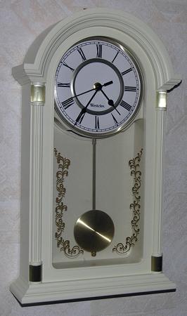 18 Quot Pendulum Wall Clock Ivory Gold By Westclox