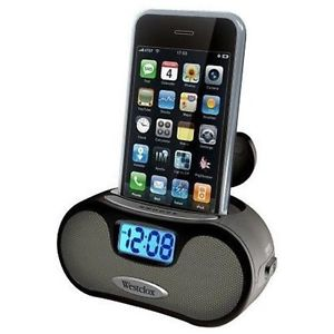 westclox 81003 stereo speaker system alarm clock. Black Bedroom Furniture Sets. Home Design Ideas