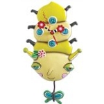 Wiggles The Caterpillar Pendulum Wall Clock by Allen Designs