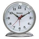Advance 02100AT Silver Wind-up Alarm Clock