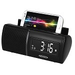 Jensen JBD-100 Bluetooth Alarm Clock Radio w/Charging for all Smartphones