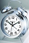 "Twin Bell 4"" Alarm Clock Silver by Maples"