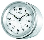 The Quincy II Silver alarm clock by Seiko