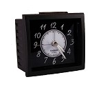 Oxford Black on Black Analog Alarm Clock by TimeWise