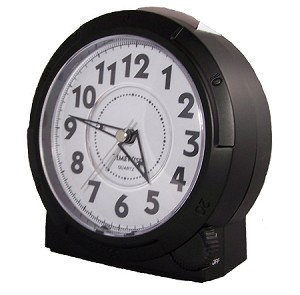 Yale Analog Alarm Clock Black by TimeWise