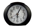 Princeton Black & White Analog Alarm Clock by TimeWise