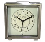 Monarch Alarm Clock Brushed Silver by TimeWise