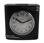 Crestone Alarm Clock Black and Chrome by TimeWise