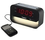 Dual Alarm Clock with USB Charge & Night Light by Timex